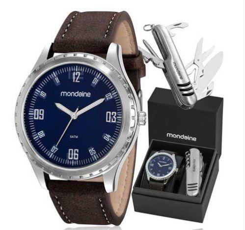 73f3e9de3f5 Kit Relógio Mondaine Masculino - 83352G0MVNH1K1 - Dumont Online - Joias e  Relógios