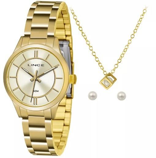 Relógio Lince Feminino - LRGH072L C1KX  - Dumont Online - Joias e Relógios