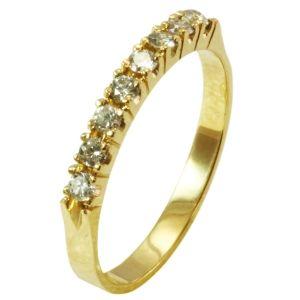 e15c13c06ac74 Meia Aliança em Ouro Amarelo com Brilhantes - Dumont Online - Joias e  Relógios