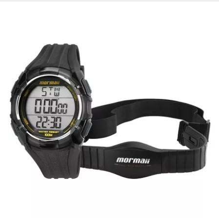 Relógio Monitor Cardíaco Mormaii Masculino - MO11558A/8A  - Dumont Online - Joias e Relógios