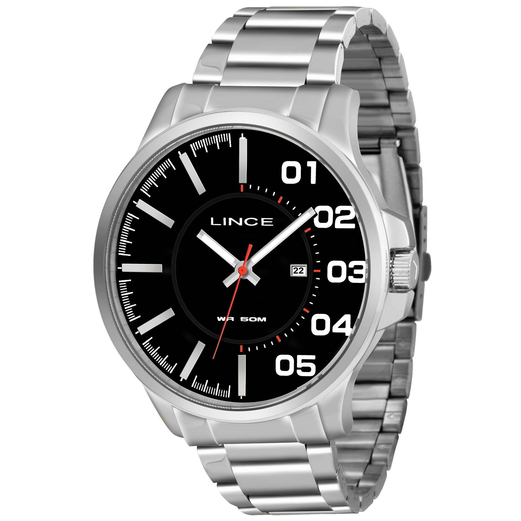 Relógio Lince Masculino - MRMH020S  - Dumont Online - Joias e Relógios