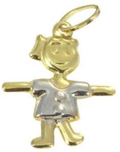Pingente de Boneca em Ouro  - Dumont Online - Joias e Relógios