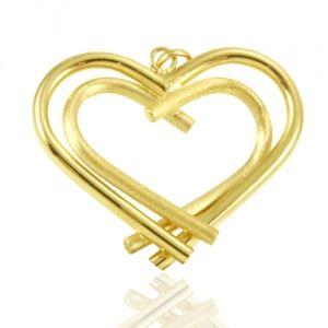 Pingente de Coração em Ouro Amarelo - Dumont Online - Joias e Relógios 6ae0ea668a