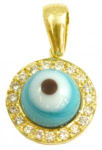6a36ca0dd3df1 Pingente Olho Grego em Ouro Amarelo com Diamantes