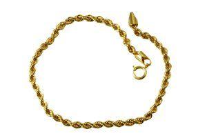 Pulseira de Corda em Ouro Amarelo  - Dumont Online - Joias e Relógios