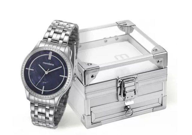 Relógio Feminino Mondaine - 99278L0MKNE1K1  - Dumont Online - Joias e Relógios