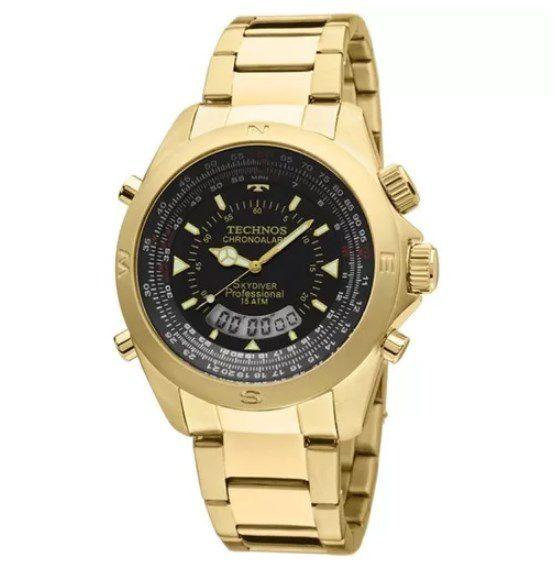 ba225ed13ad05 Relógio Masculino Technos Skydiver - T20565 4P - Dumont Online - Joias e  Relógios