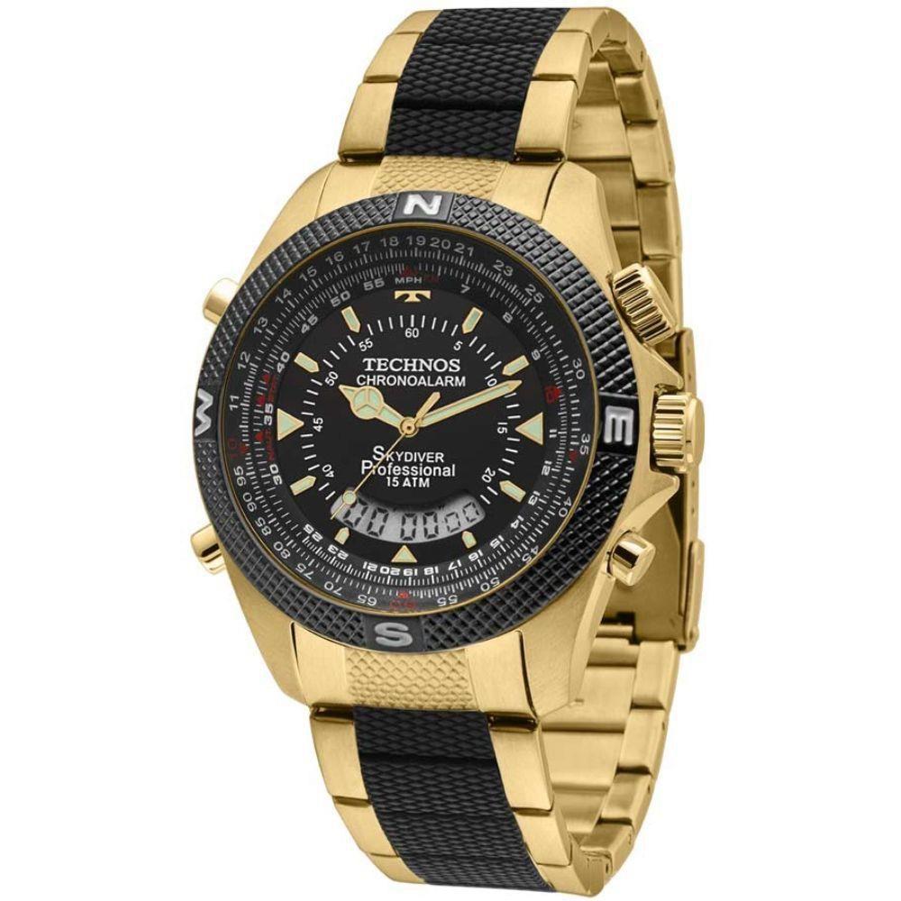 Relógio Masculino Technos Skydiver - T205FG/4P  - Dumont Online - Joias e Relógios