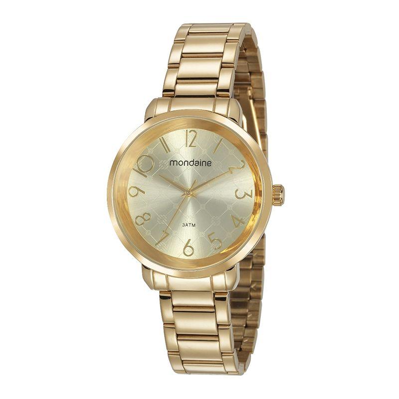 6b2fa34b66c Relógio Mondaine Feminino Dourado - 53657LPMVDE1 - Dumont Online - Joias e  Relógios