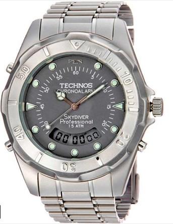 Relógio Masculino Technos Skydiver - T20557/6C   - Dumont Online - Joias e Relógios