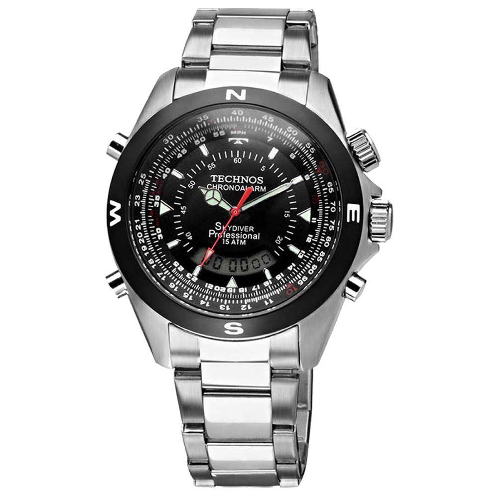 Relógio Masculino Skydriver Technos - T20560/1P  - Dumont Online - Joias e Relógios