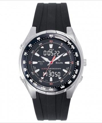 Relógio Bulova Masculino com Pulseira de Borracha - WB10019T  - Dumont Online - Joias e Relógios