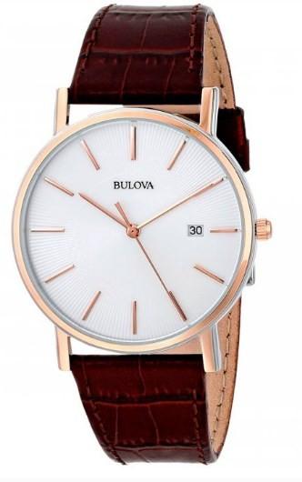 Relógio Bulova Masculino Pulseira de Couro - WB21150B  - Dumont Online - Joias e Relógios