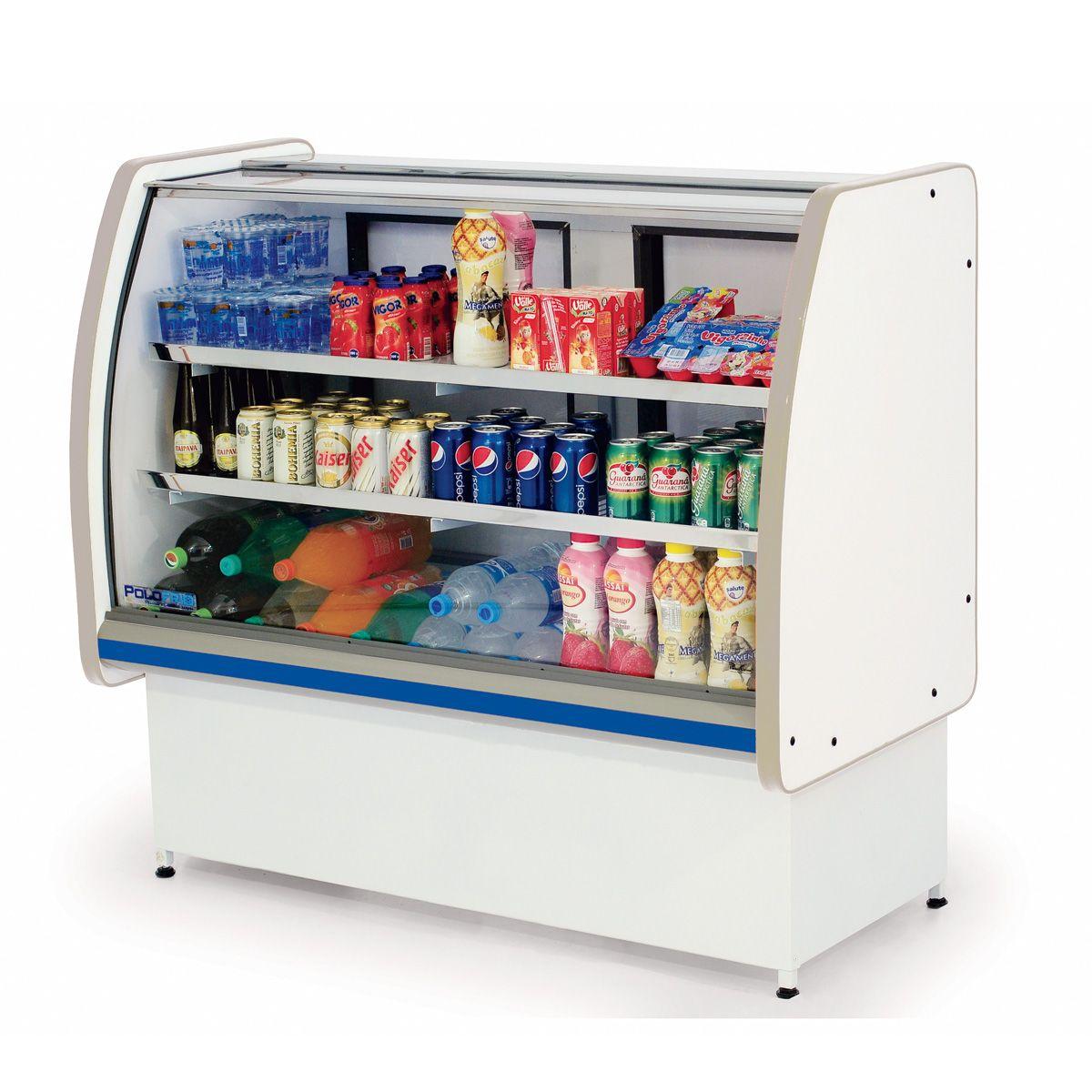 Balcão Refrigerado Pop Luxo Vidro Semi Curvo 1,25 - Polofrio