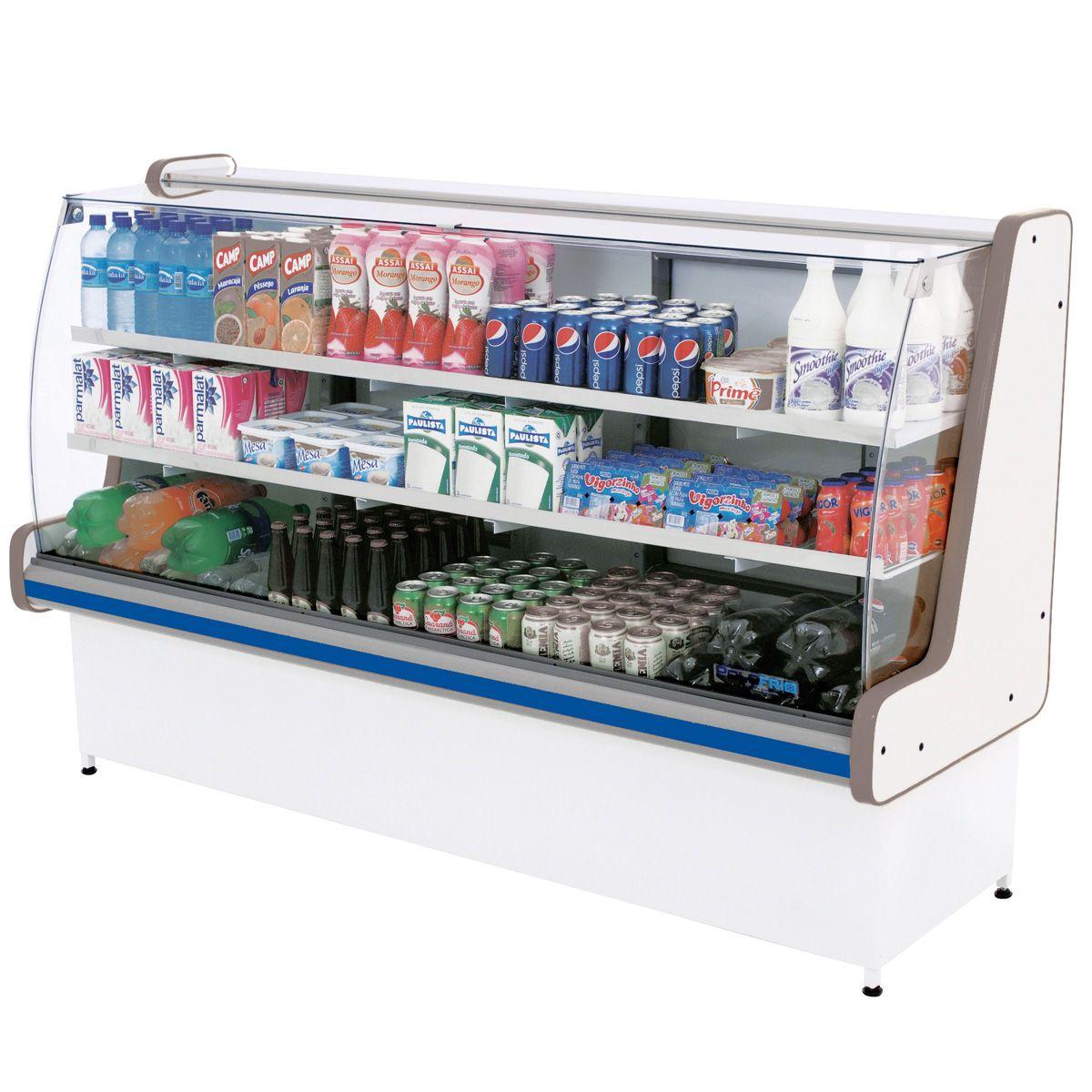 Balcão Refrigerado Pop Luxo Vidro Semi Curvo 1,80 - Polofrio