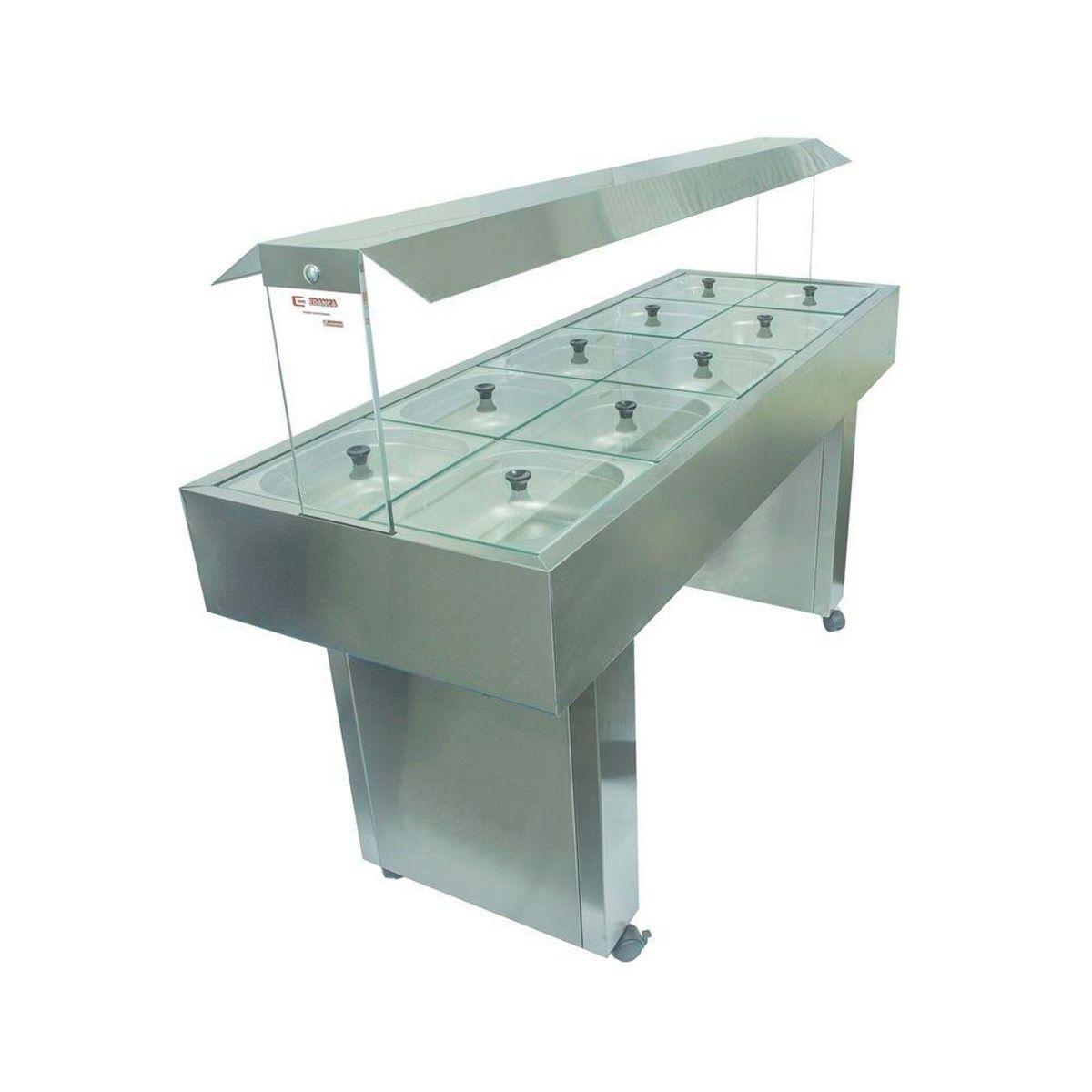 Buffet self-service refrigerado para 08 cubas- Edanca