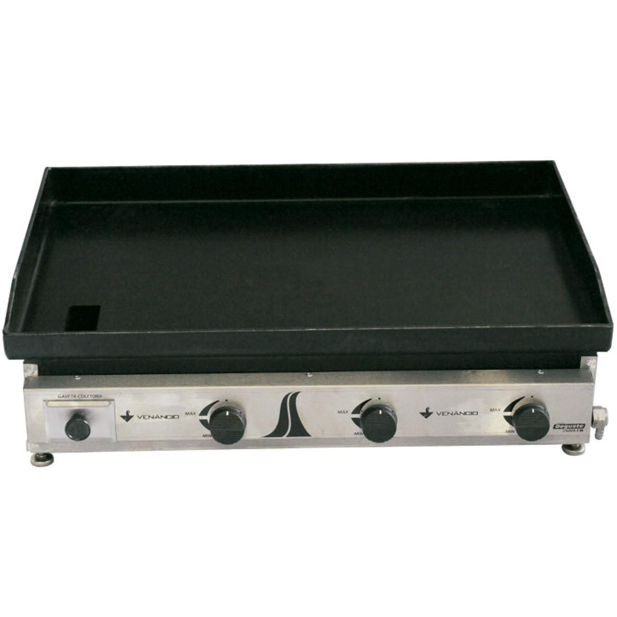 CHAPA C80 GAS INOX ESCOVADO MODELO 800 VENANCIO