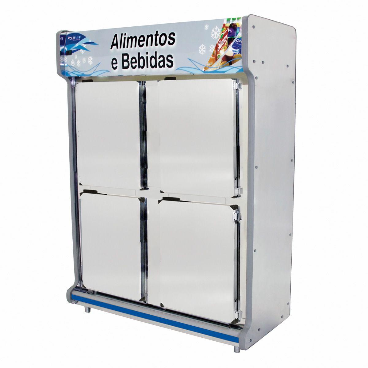 Geladeira comercial 4 portas polo frio