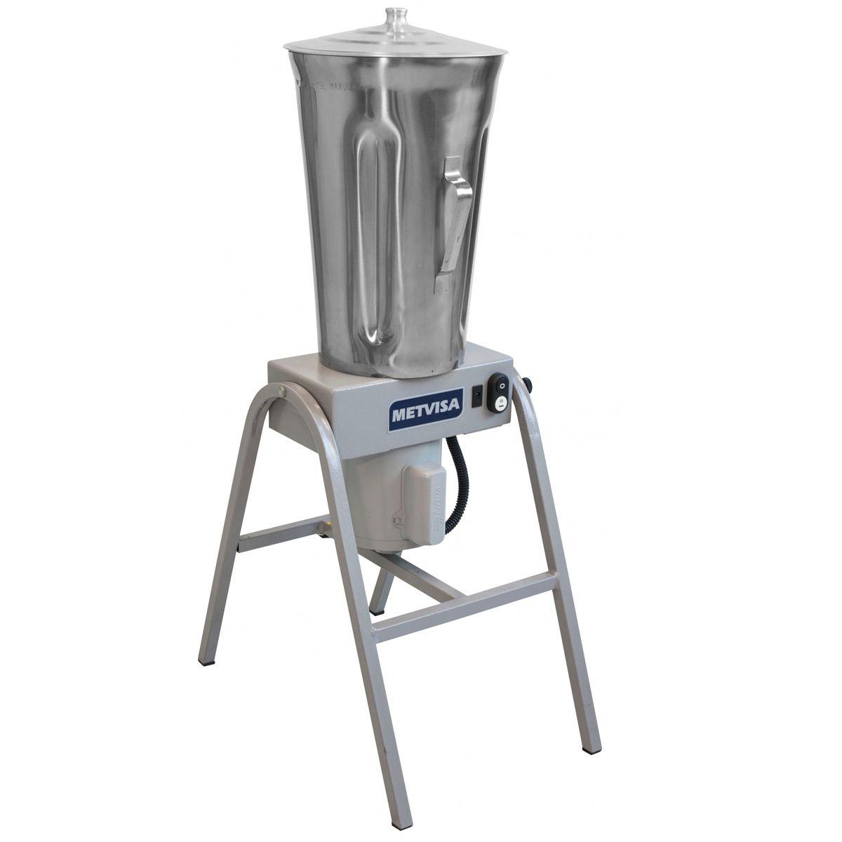 Liquidificador Industrial copo inox 15 litros Bivolt  MET.VISA