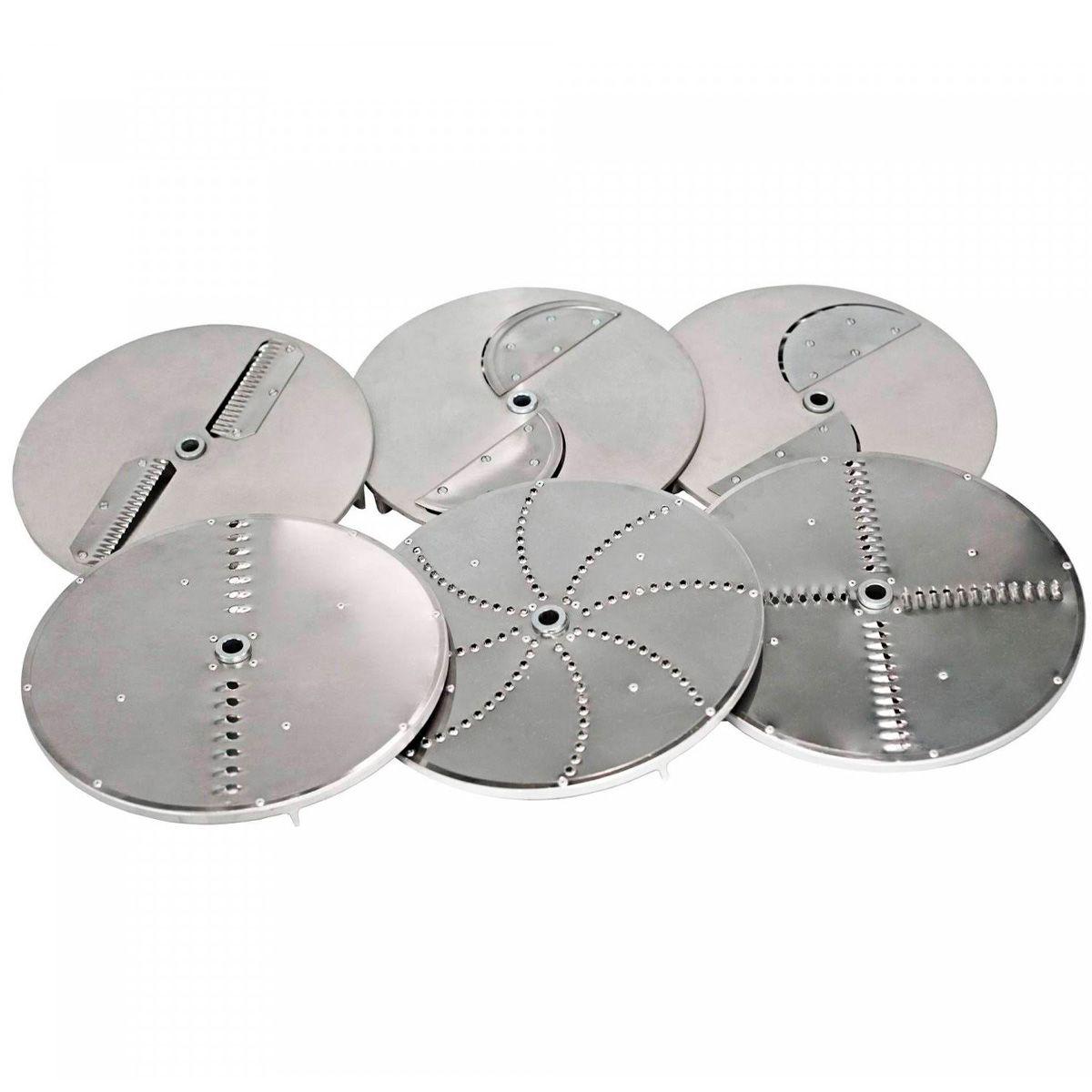 Processador de Alimentos Industrial Aço Inox 1/2 CV c/ 6 discos Metvisa