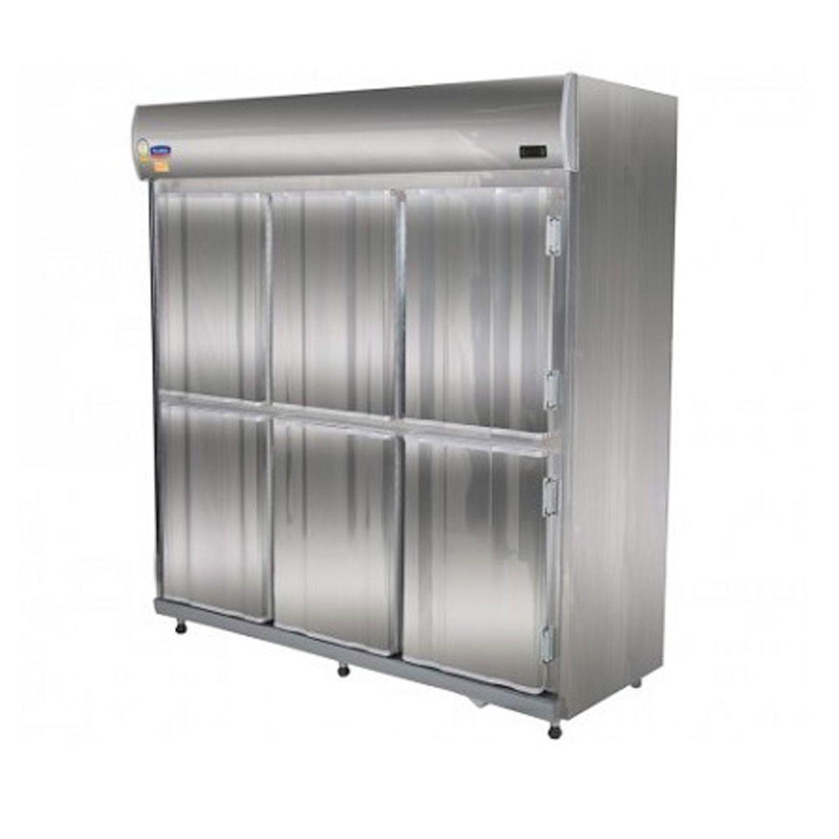 Refrigerador Comercial 6 portas inox linha pro Klima