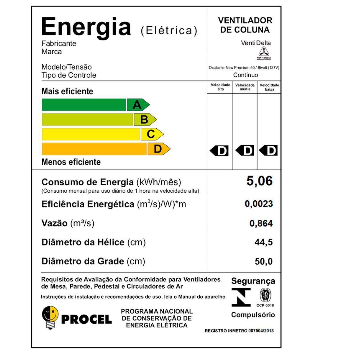 Ventilador de coluna 60 CM New premium - Venti-Delta