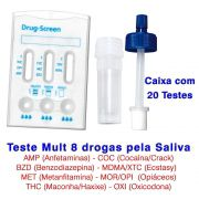 01 Caixa com 20 Testes de Saliva