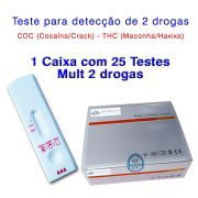 01 Caixa com 25 Testes Mult 2 - COC+THC