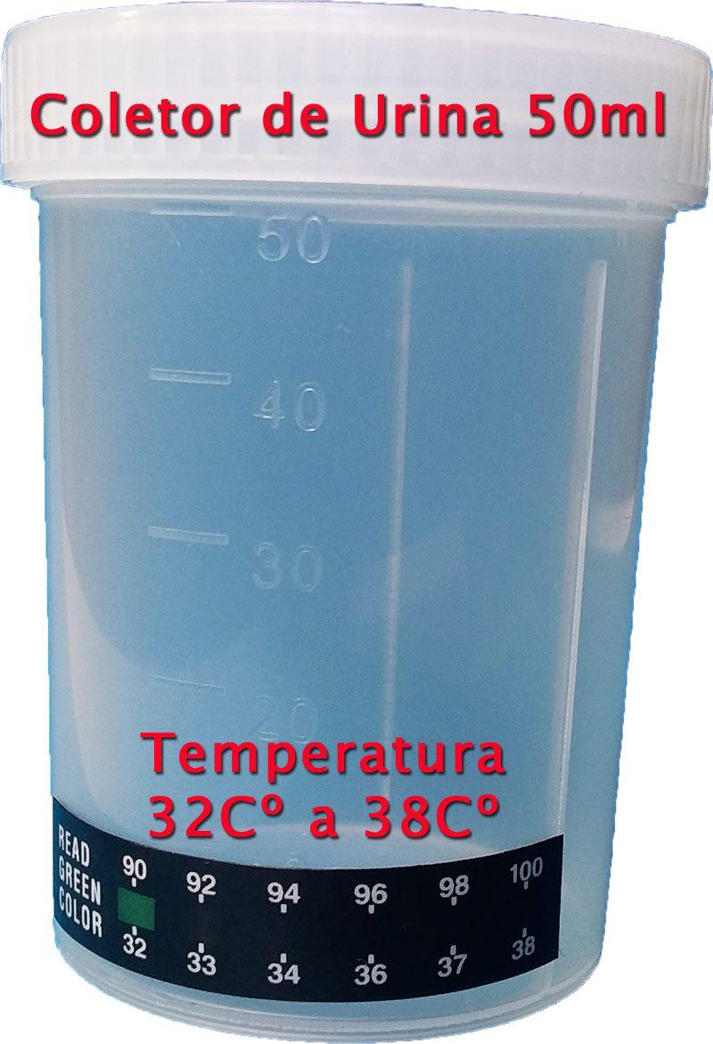 25 Coletores de urina com fita termômetro  -  EAB Diagnósticos - Exames Toxicológicos