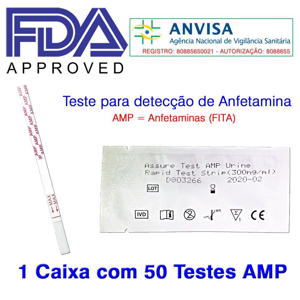 01 Caixa com 50 Testes AMP  -  EAB Diagnósticos - Exames Toxicológicos