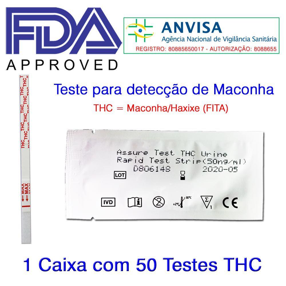 Caixa com 50 Testes THC  -  EAB Diagnósticos - Exames Toxicológicos