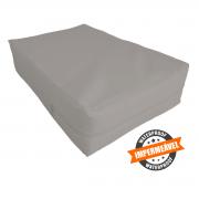 capa hospitalar antialérgica impermeável para colchão de  casal na cor cinza