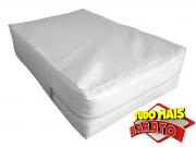 Capa para colchão de Casal Impermeável hospitalar Medida Especial Anti alérgica - capa na cor Branca