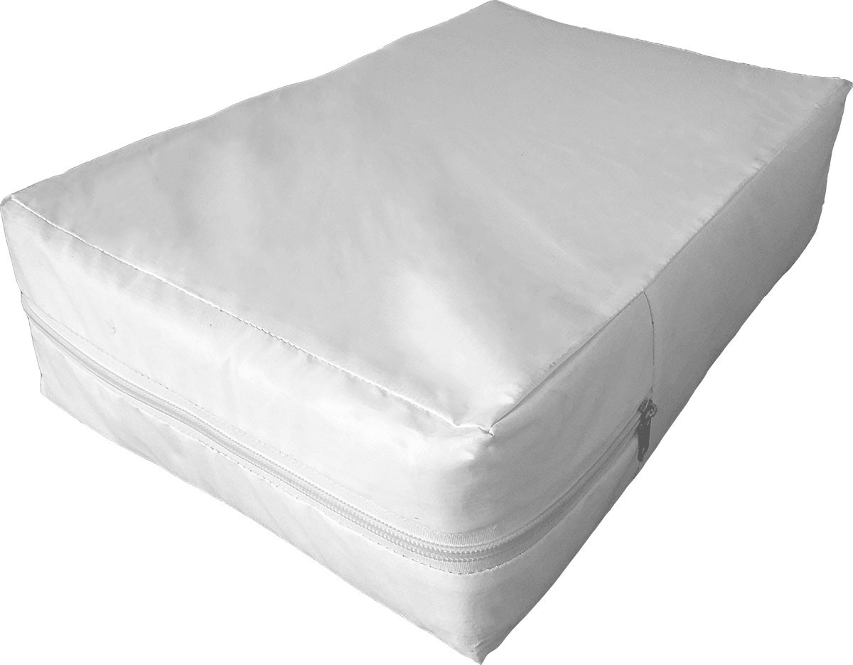 Capa Branca impermeável hospitalar para colchão de solteiro vários tamanhos  - CarroCasa