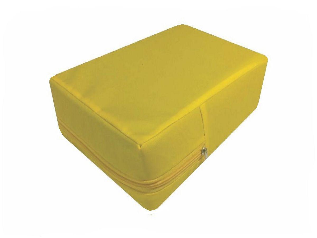 capa hospitalar para colchão de casal na cor amarela  - CarroCasa