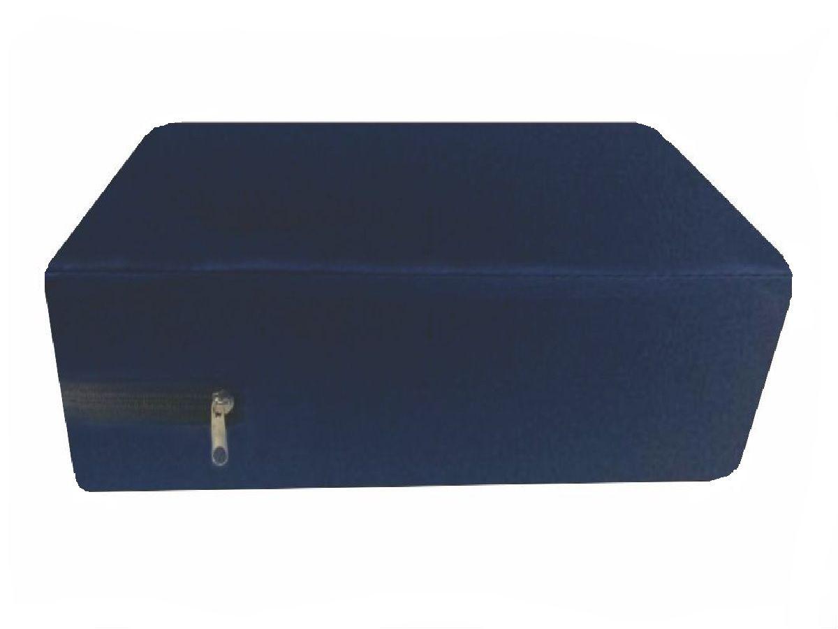 Capa hospitalar impermeável para colchão de casal na cor azul
