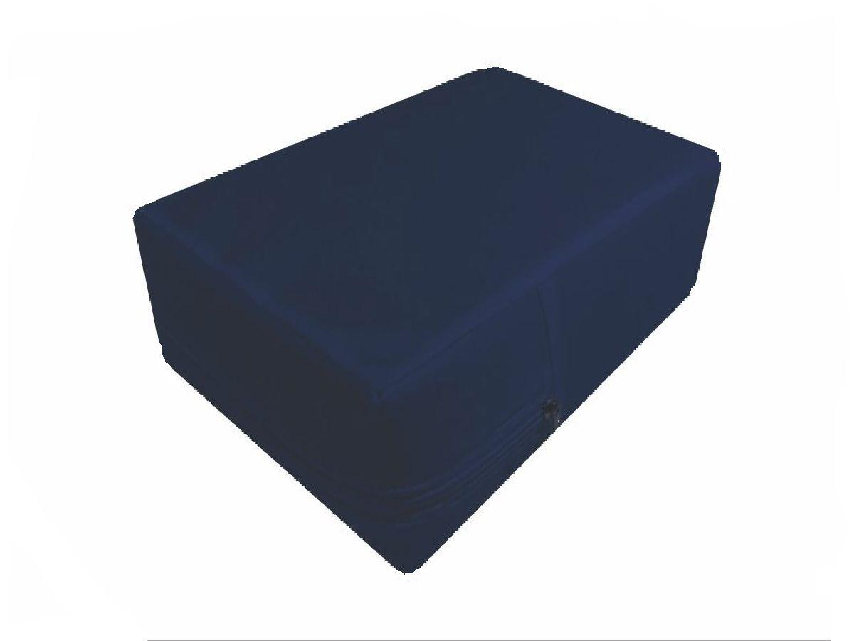Capa hospitalar impermeável para colchão de casal na cor azul marinho