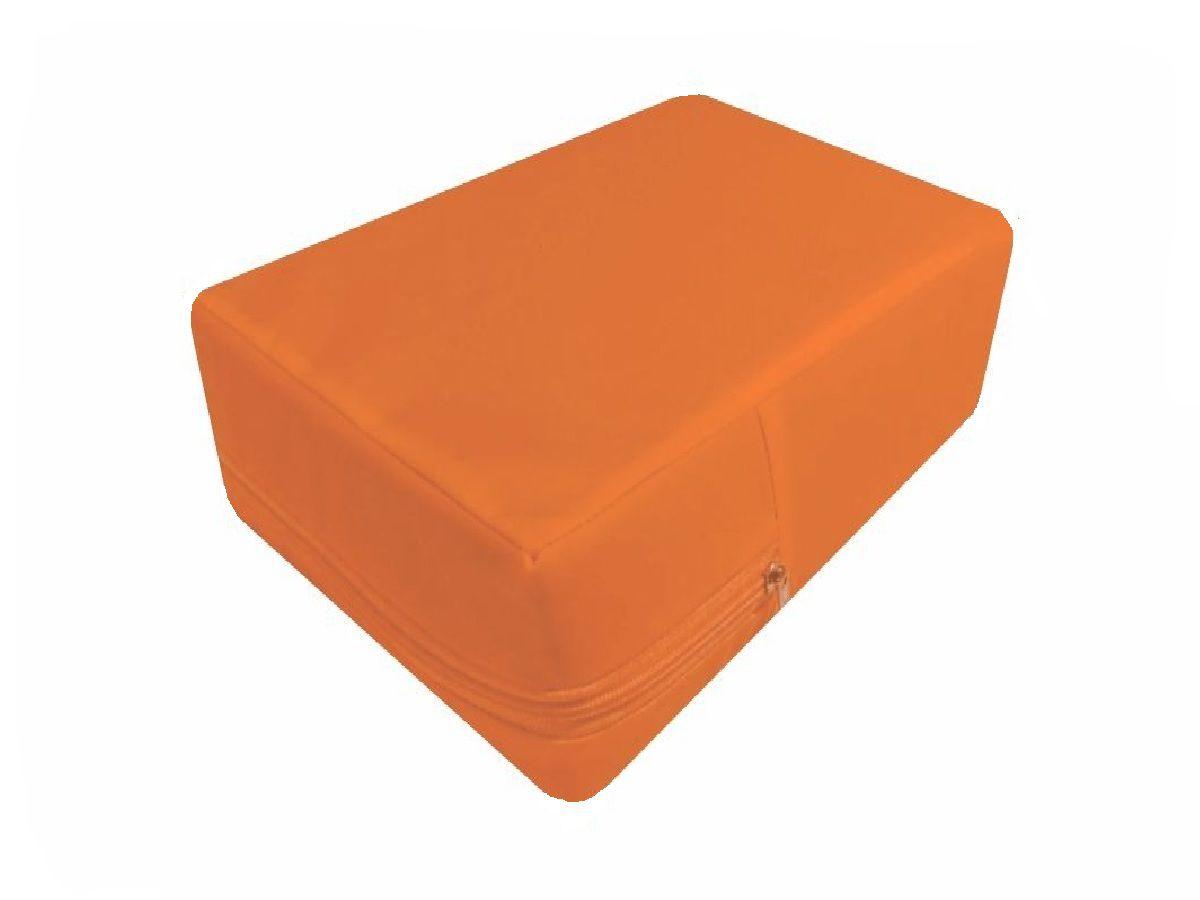 Capa colchão Casal Impermeável Hospitalar capa na cor laranja  - CarroCasa