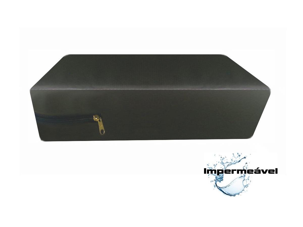Capa Casal para colchão Queen Impermeável cor  Marrom  - CarroCasa