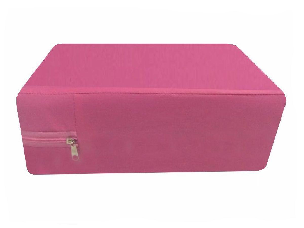 capa hospitalar  para colchão de casal na cor pink fechamento em zíper  - CarroCasa