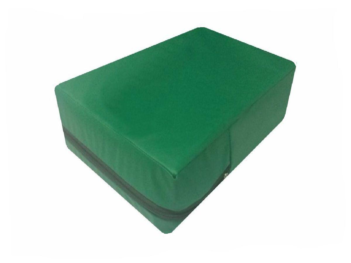 Capa  Queen a prova de água hospitalar cor  Verde Bandeira  - CarroCasa