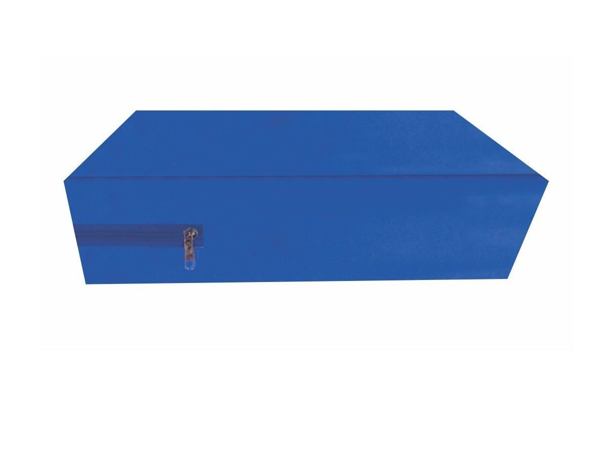 capa para colchão queen impermeável com zíper cor Azul   - CarroCasa