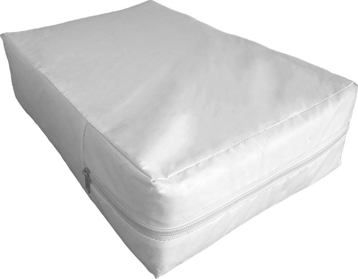 Capa Casal Queen-size hospitalar Impermeável para Colchão  na cor Branca