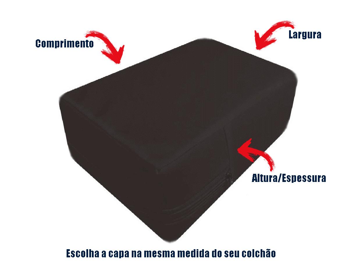 Capa cobrir colchão Casal Preta Impermeável Hospitalar  - CarroCasa
