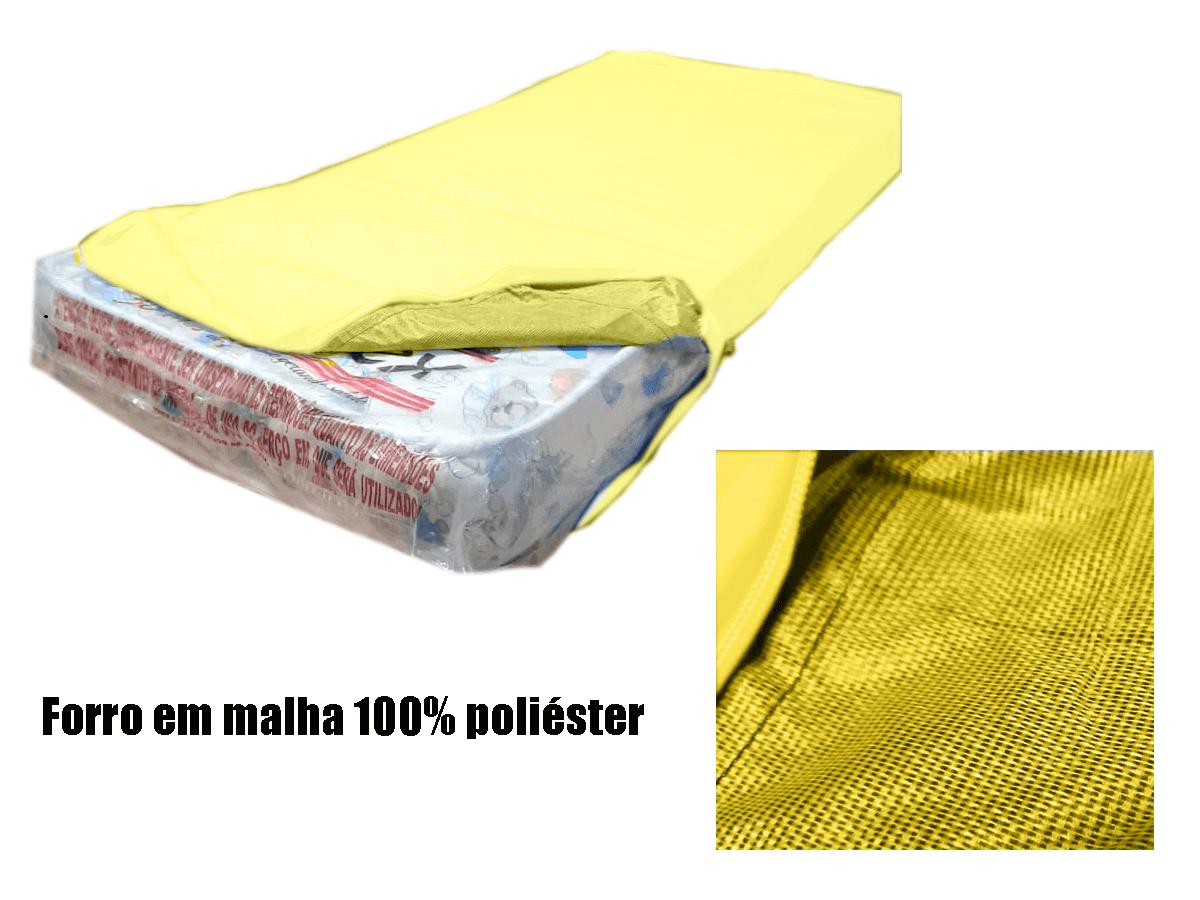 Capa cobrir colchão Casal Queen Impermeável cor Amarela  - CarroCasa