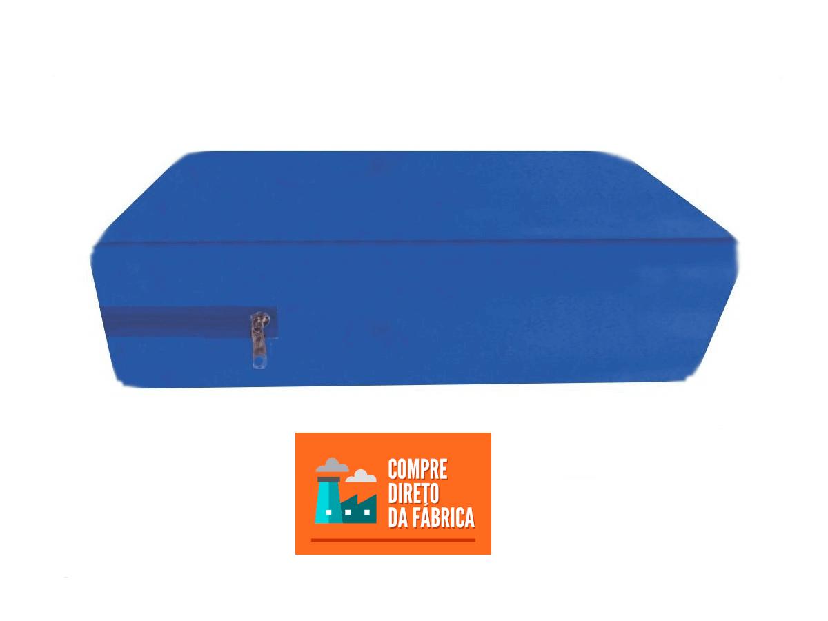 Capa Colchão Berço Mini Cama cor Azul a prova de água Com Zíper  - CarroCasa