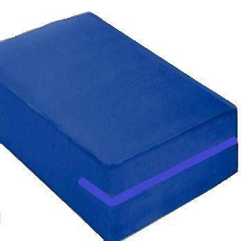 Capa Colchão Casal Impermeável Forrada Hospitalar Antialérgica Azul