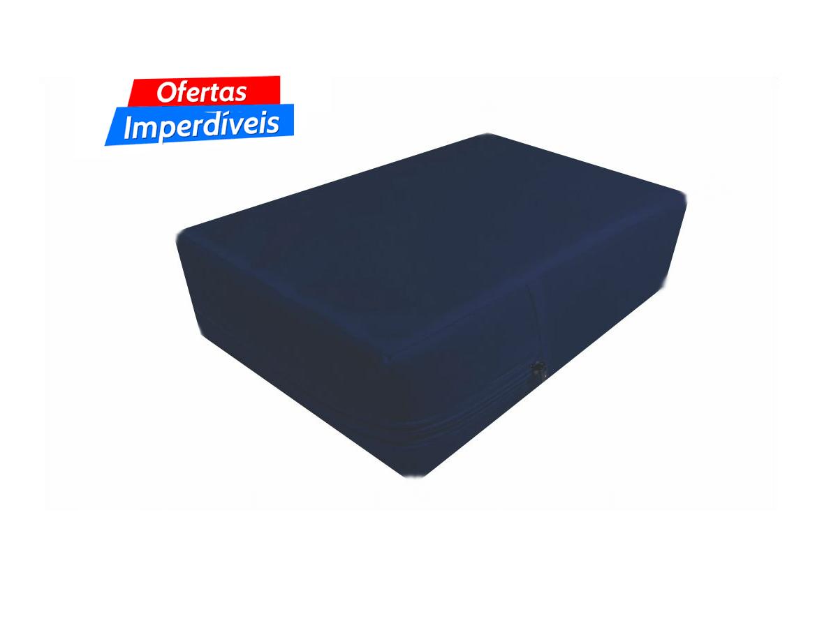 Capa colchão Casal Queen Impermeável hospitalar  Azul Marinho  - CarroCasa