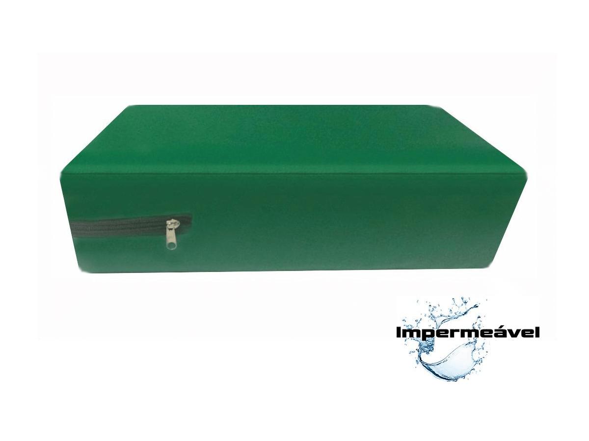 Capa Colchao Solteiro Hospitalar Impermeavel Medida Especial - Verde Bandeira  - CarroCasa