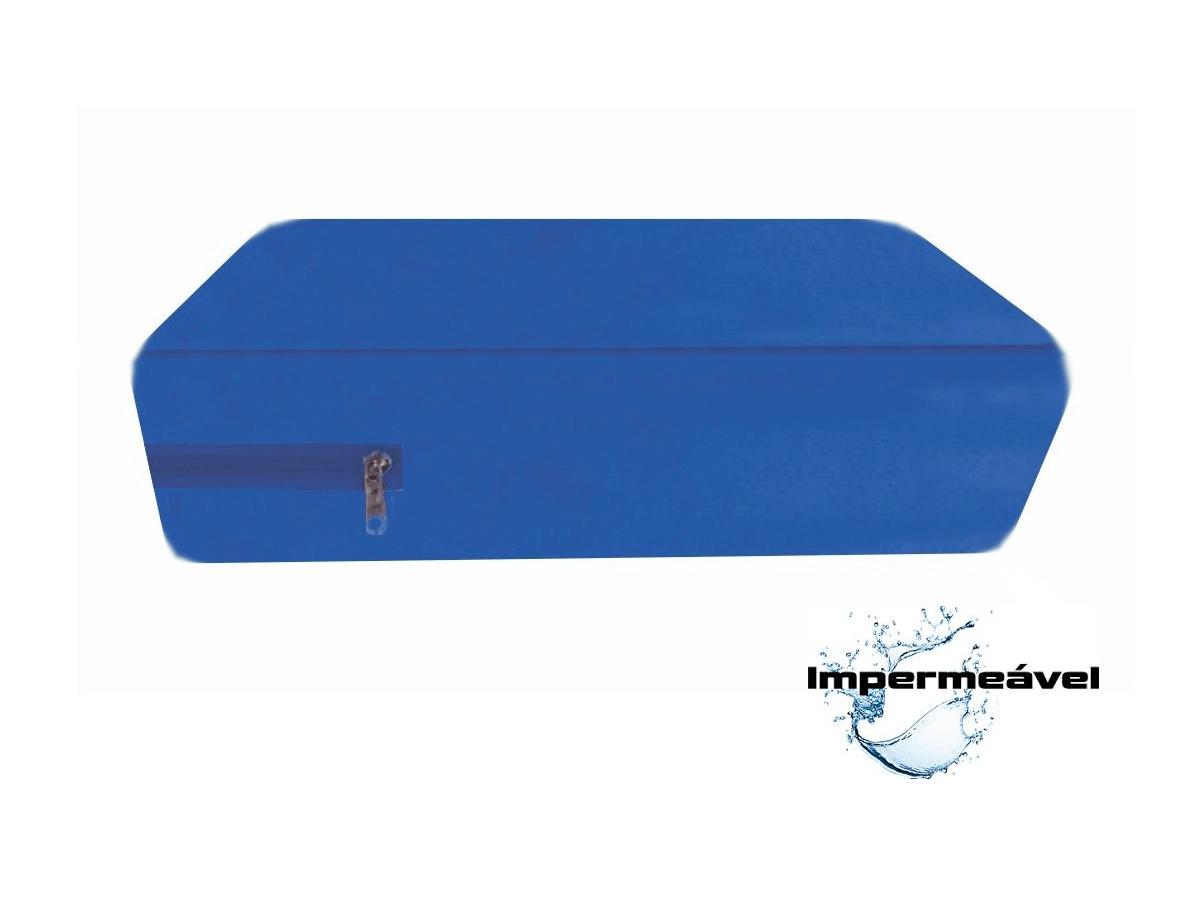 Capa de Casal para Colchão impermeável hospitalar Anti Alérgica Azul  em Promoção  - CarroCasa